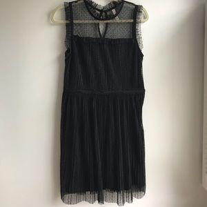 Xhilaration Sheer Black Polka Dot Dress